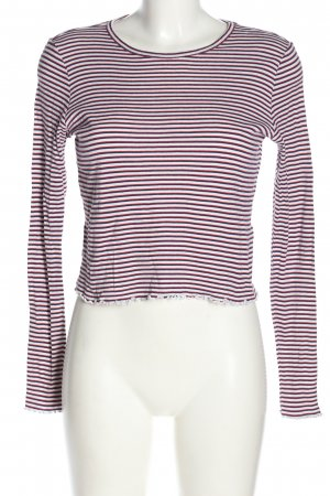 Topshop Cropped Shirt Streifenmuster Casual-Look