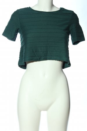 Topshop Cropped shirt khaki casual uitstraling