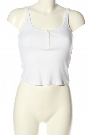 Topshop Cropped Top weiß Casual-Look