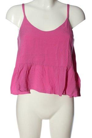 Topshop Top corto rosa stile casual