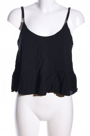 Topshop Cropped Top schwarz Casual-Look