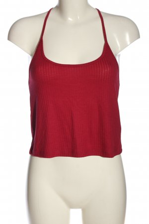 Topshop Cropped Top rot Streifenmuster Casual-Look