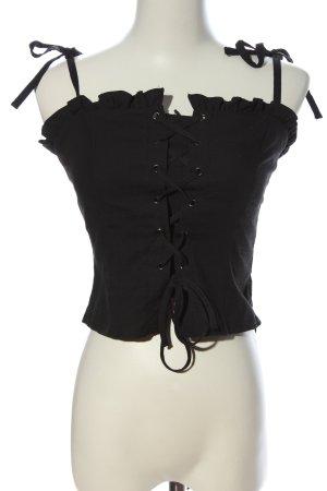 Topshop Cropped Top schwarz extravaganter Stil