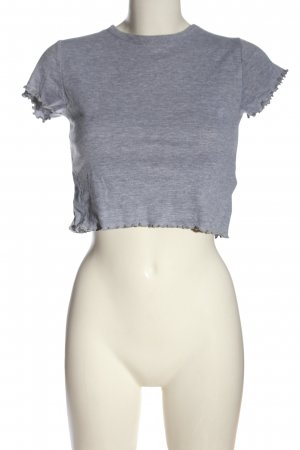 Topshop Cropped Top hellgrau meliert Casual-Look