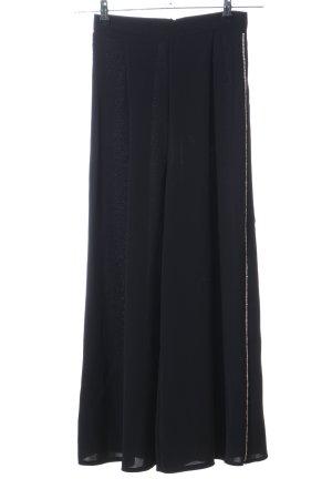 Topshop Falda pantalón de pernera ancha negro elegante