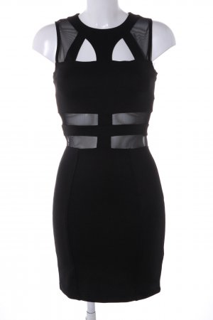 Topshop Cut-Out-Kleid schwarz Business-Look