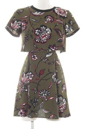 Topshop Cut-Out-Kleid Blumenmuster Casual-Look