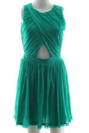 Topshop Vestido cut out verde elegante