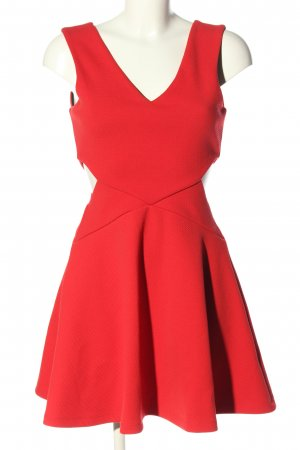 Topshop Cut-Out-Kleid rot Elegant