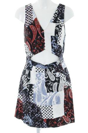 Topshop Cut-Out-Kleid mehrfarbig