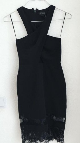 Topshop Vestido cut out negro