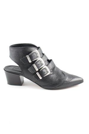 Topshop Botas cut out negro-color plata look casual