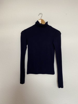 Topshop Turtleneck Shirt dark blue