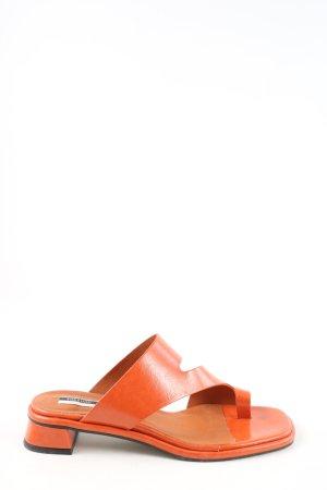 Topshop Sandały japonki jasny pomarańczowy W stylu casual