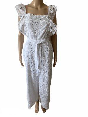 Topshop Jumpsuit white cotton