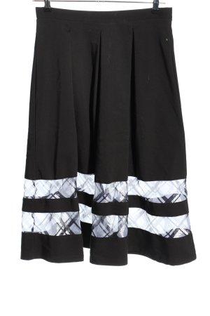 Topshop Faltenrock schwarz-weiß Elegant