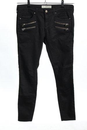 Topshop Five-Pocket-Hose schwarz Casual-Look