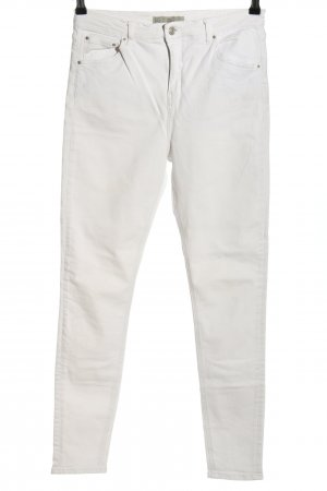 Topshop Five-Pocket-Hose weiß Casual-Look