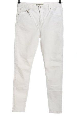 Topshop Pantalone cinque tasche bianco stile casual