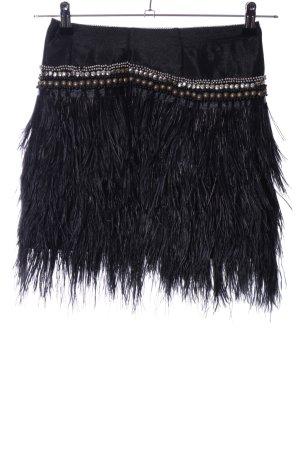 Topshop Fringed Skirt black extravagant style