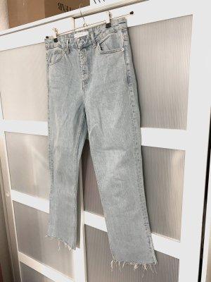 Topshop gebleichte Jeans mit geraden Beinschnitt W30/L33