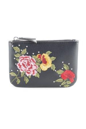 Topshop Geldbörse schwarz Blumenmuster Romantik-Look