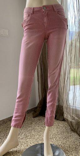 Topshop 7/8 Length Jeans raspberry-red-black mixture fibre