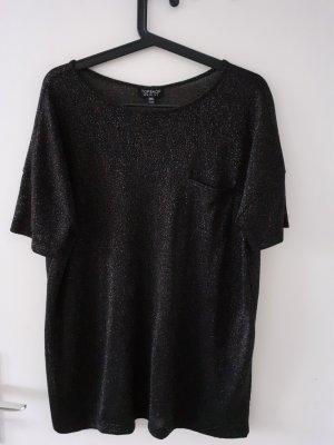 Topshop Camiseta negro-color oro