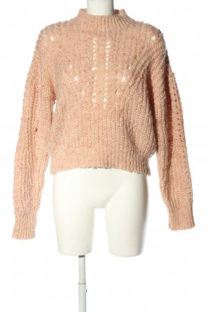 Topshop Grobstrickpullover creme Zopfmuster Casual-Look