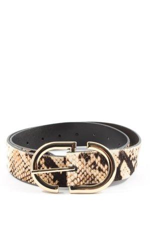 Topshop Hebilla del cinturón estampado de animales estilo extravagante