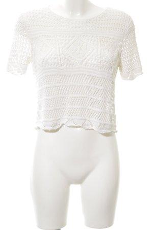 Topshop Gehaakt shirt wit casual uitstraling