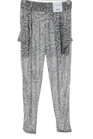 Topshop Haremshose grau-hellbeige abstraktes Muster Casual-Look