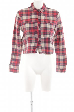 Topshop Hemd-Bluse rot Karomuster Casual-Look