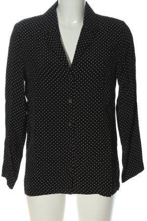 Topshop Hemd-Bluse schwarz-weiß Punktemuster Casual-Look