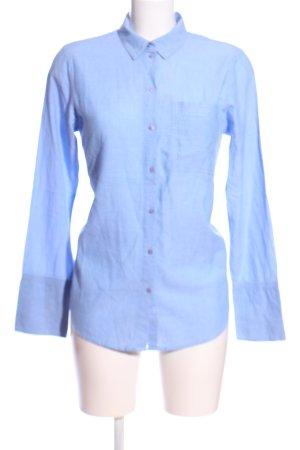 Topshop Hemd-Bluse blau Casual-Look