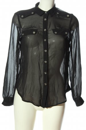 Topshop Hemd-Bluse schwarz Business-Look