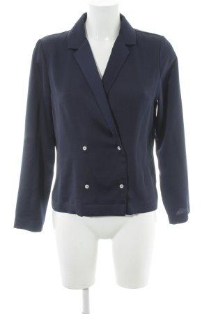 Topshop Hemd-Bluse dunkelblau Glanz-Optik