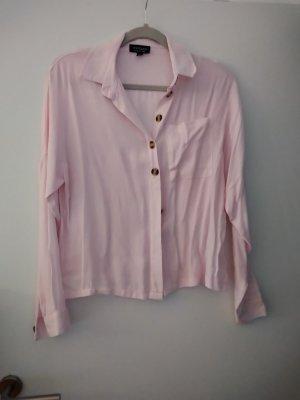 Topshop Camicia a maniche lunghe rosa chiaro