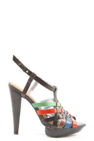 Topshop High Heel Sandaletten Streifenmuster Casual-Look