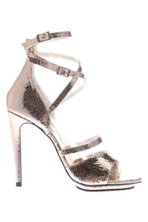 Topshop High Heel Sandaletten bronzefarben Elegant