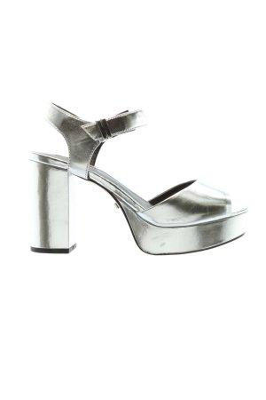 Topshop High Heels silberfarben extravaganter Stil