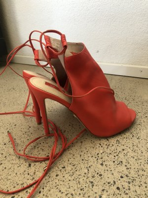 Topshop High Heels Leder Orange 41 neu