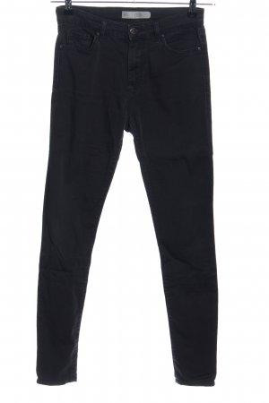 Topshop High-Waist Hose schwarz Casual-Look