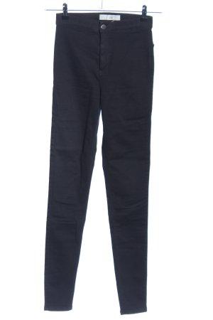 Topshop Hoge taille broek zwart casual uitstraling