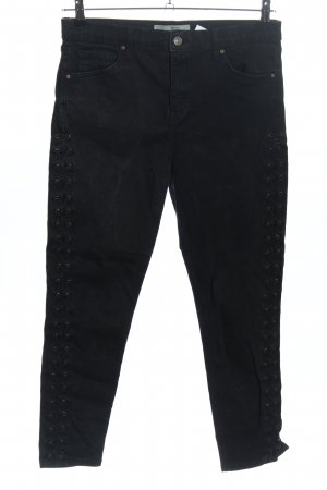 Topshop High Waist Jeans schwarz Casual-Look