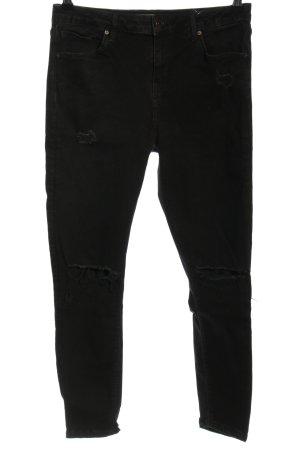 Topshop High Waist Jeans schwarz Casual-Look