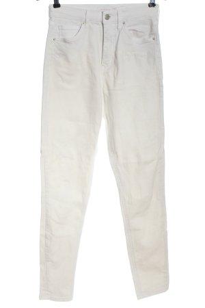 Topshop Jeans a vita alta bianco stile casual