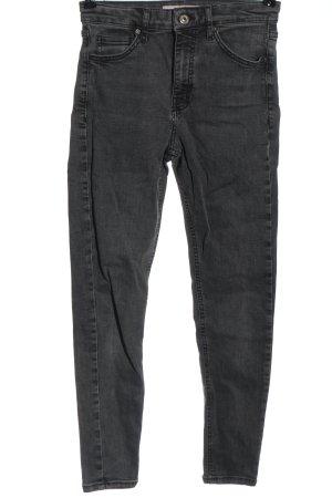 Topshop High Waist Jeans hellgrau Casual-Look