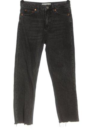 Topshop Jeans taille haute noir style décontracté