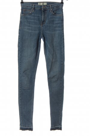 Topshop Jeans taille haute bleu style décontracté